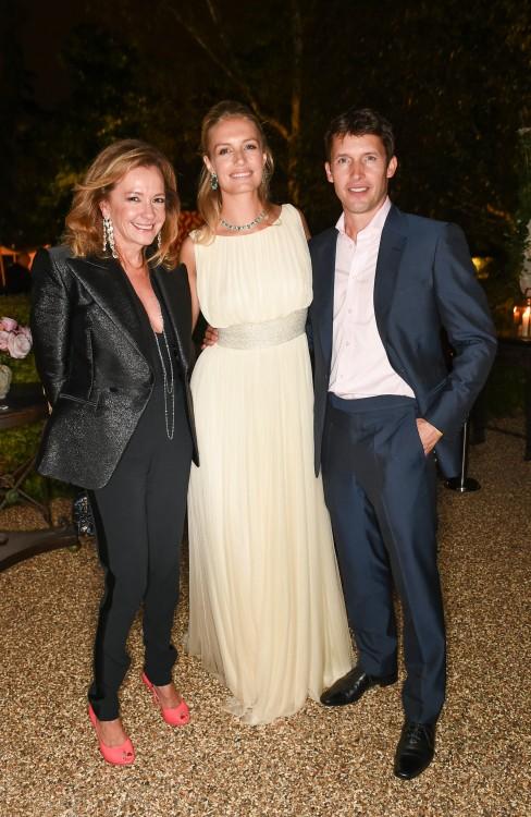 Caroline Scheufele, Sofia Wellesley wearing Chopard & James Blunt