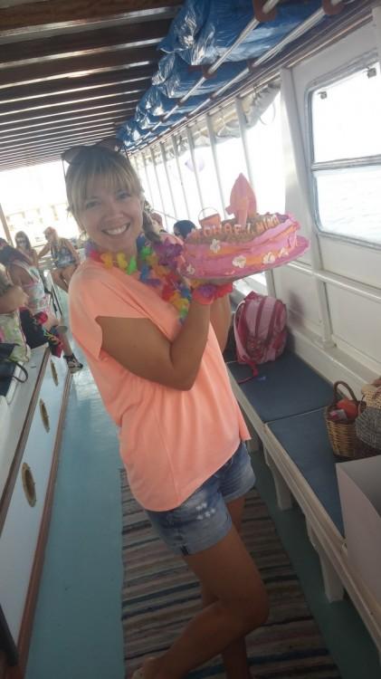 Η Αρχοντούλα με την Aloha τούρτα!