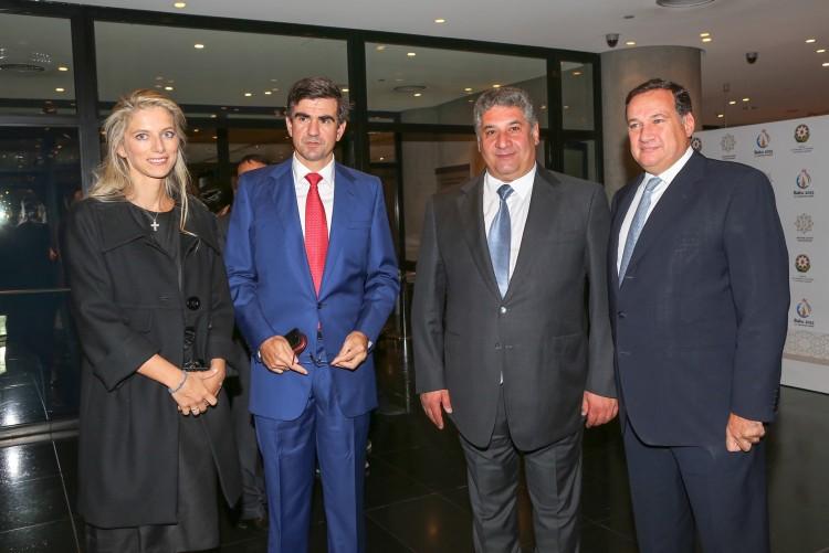 Νίκος και Αλεξία Βαρδινογιάννη, Azad Rahimov,Υπουργός Αθλητισμού του Αζερμπαϊτζαν, Σπύρος Καπράλος