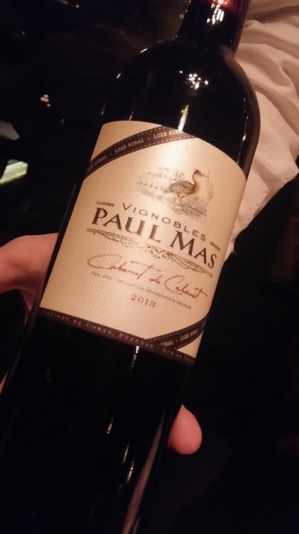 Αλλαγή κρασιού, ο sommelier προτείνει Paul Mas, Cabernet de Cabernet...