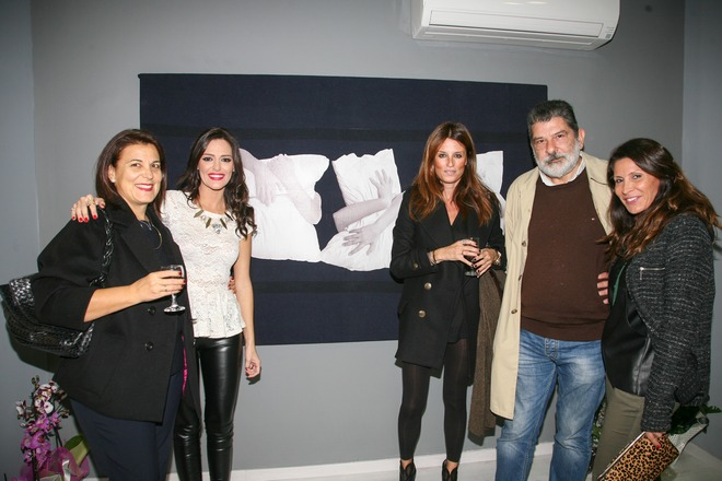 Οι κυρίες Παπαηλίου και Πρτράκη με την Ιωάννα Ροκόφυλλου, τον Γιώργο Χαρβαλιά, και την Μαριαλένα Βαρώτση