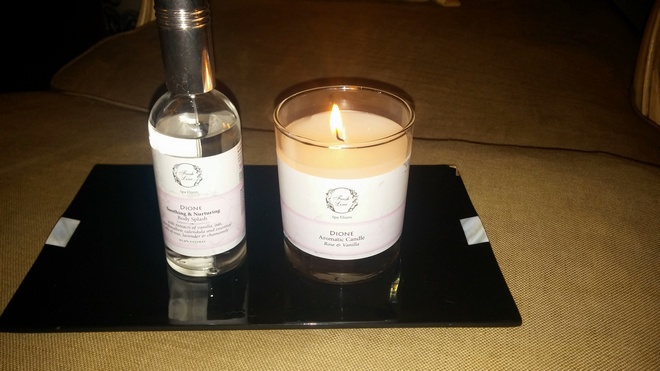 Inspired by the principals of ancient Greek hydrotherapy & aromatotherapy...Dione by Fresh Line, Rose & Vanilla...