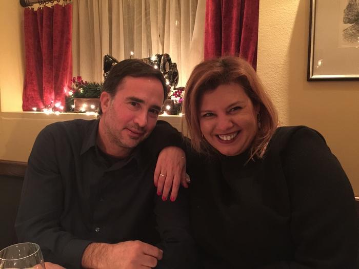 Με τον οικοδεσπότη του Bistrot Le Mignon, Γιώργο Λυκιαρδόπουλο