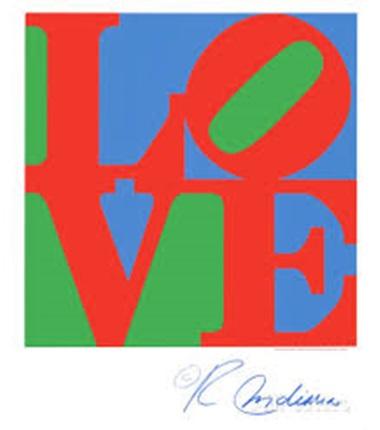 Αφίσα, Robert Indiana Classic Sky Love