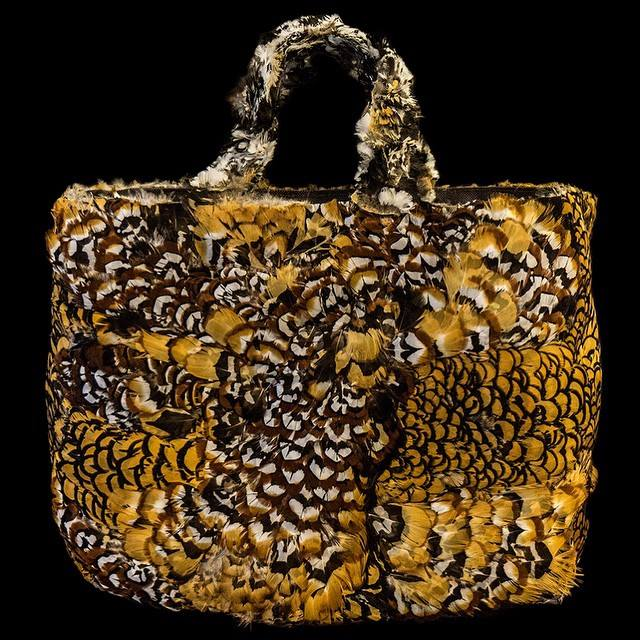 All feather bag by artist Platon - Alexis Hadjimichalis!