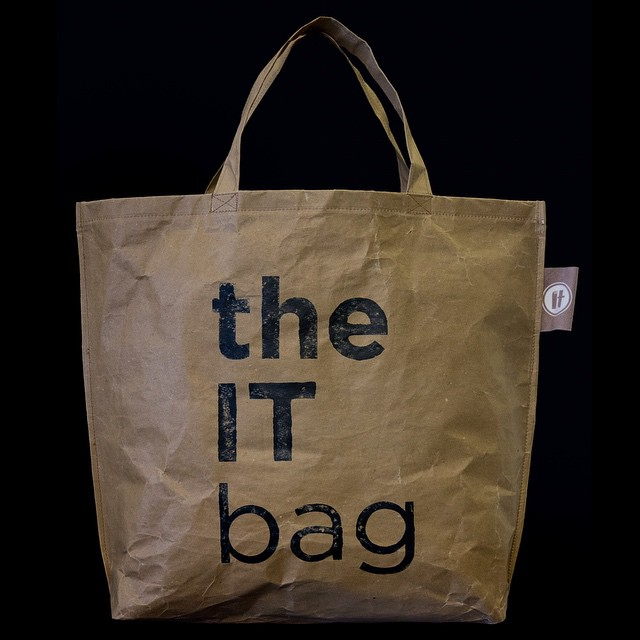 "Designed by restaurateur Kalia Kambouridou!The ""IT"" bag for grocery shopping, made of craft paper. Inspired by"" it""_restaurant's eco philosophy."