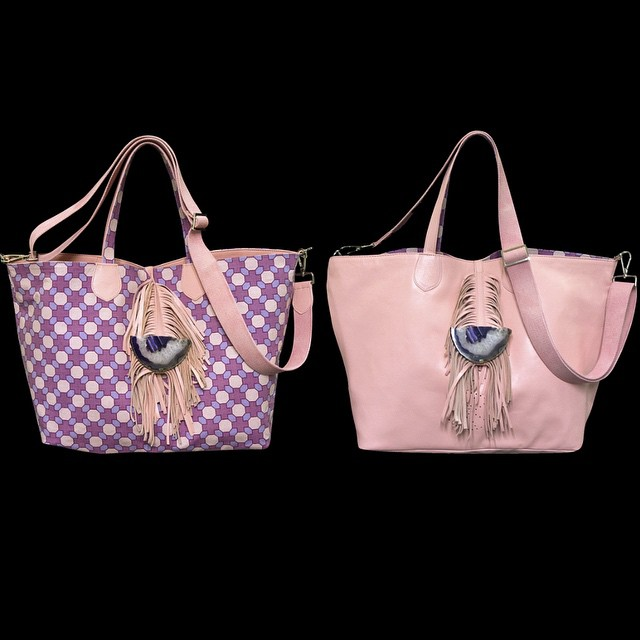 Double face bag by interior designers Veta and Laura Tsoukala!