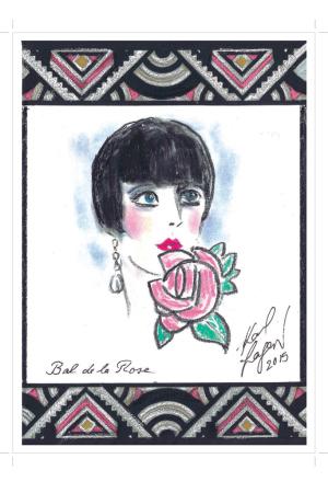 The invitation for Bal de la Rose.