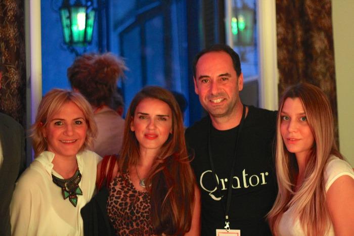 Η Ιωάννα Ντουσοπούλου, η Μαριάννα Σμπώκου, ο Νικόλας Ιωαννίδης και η Κατρίνα Τσάνταλη.