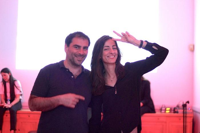 Ο Ντίνος Μαχαίρας και η Βερονίκη Χαριτάτου-Gonzalez