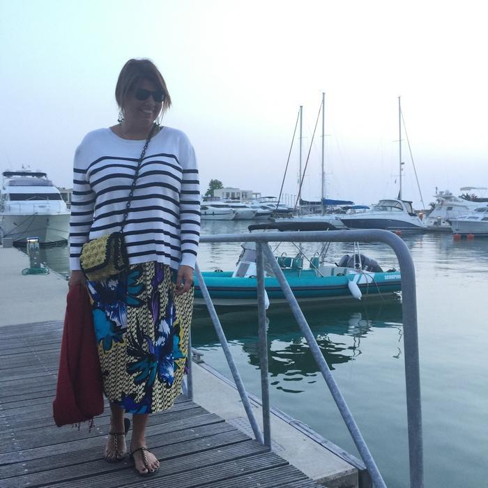 Στην Μαρίνα του Sani κατευθυνόμενη στο Asterias Suites και στο Water Restaurant...