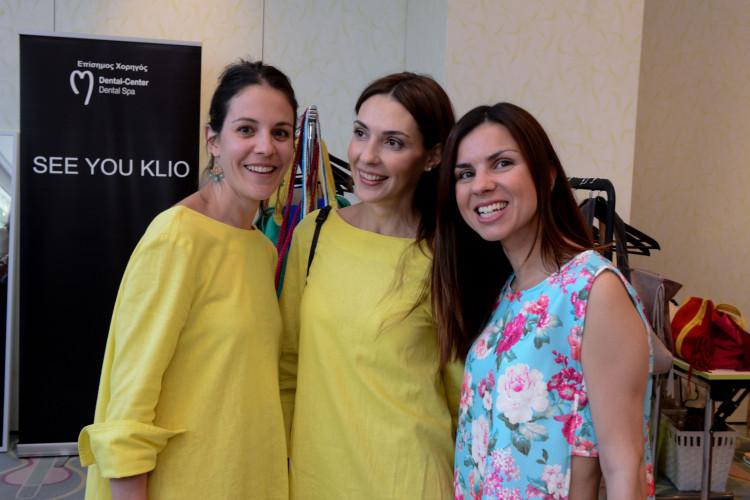 Η Σταματία Δημητριάδη με τα...Stylebubbles girls Ξένια Κωστοπούλου-Τζανικιάν και Έφη Καλντάνη