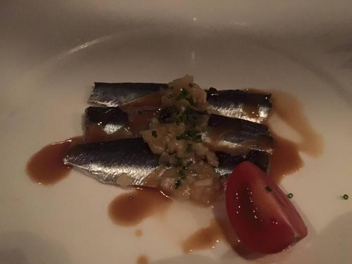 Sardine Su Miso! Marinated sardine with Japanese mild mustard...