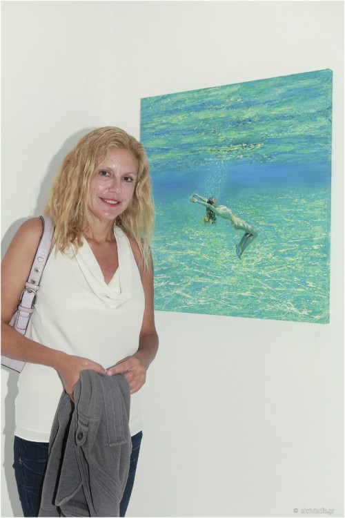 Η ζωγράφος Μαρία Φιλοπούλου
