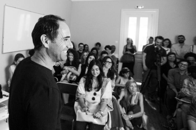 Ο CEO του Qrator Νικόλας Ιωαννίδης κατά την ομιλία του