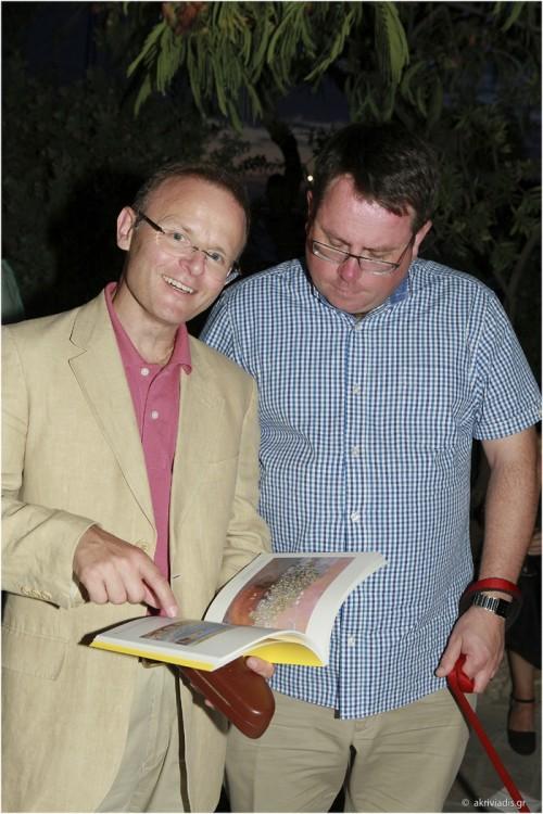 Ο Πρέσβης της Βρεττανίας στην Ελλάδα, John Kittmer με τον David Bates