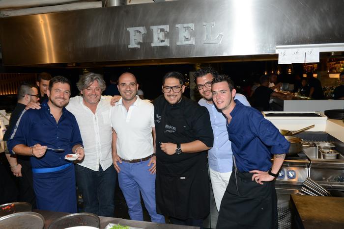 O Chef Eric Guerin, Sebastien Ripari, Θεοδόσης Κακούτης, Αθηναγόρας Κοστάκος, Παναγιώτης Σωπιάδης & Antony Lambalais