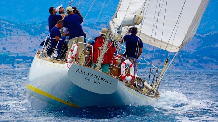 Το σκάφος ALEXANDRA κατά τη διάρκεια των αγώνων