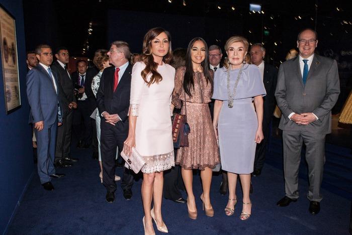 Μehriban Aliyeva, Leila Aliyeva, Μαριάννα Β. Βαρδινογιάννη, Πρίγκιπας Αλβέρτος του Μονακό