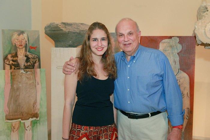 Ο Σπύρος Πολλάλης με την κόρη του, Χριστίνα