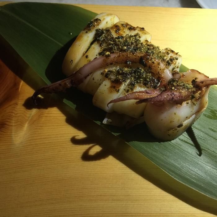 Calamari Unagi sauce...
