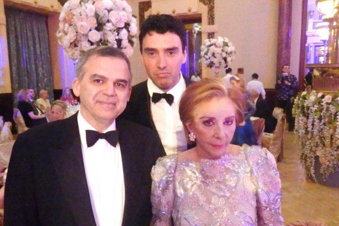 Ο πρόξενος της Ελλάδας στην Ρωσία , Γεράσιμος Δάβαρης , Χρυσάνθη Λαιμού , Πρόεδρος του Life Action Trust, Νικόλαος Ζόμπος