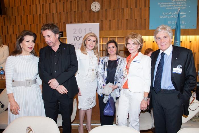 Πριγκίπισσα Firyal της Ιορδανίας, Jean Michel Jarre, Μαριάννα Β. Βαρδινογιάννη, Μεγάλη Δούκισα του Λουξεμβούργου Μαρία Τερέζα, Hedva Ser, Alain Husson-Dumoutier