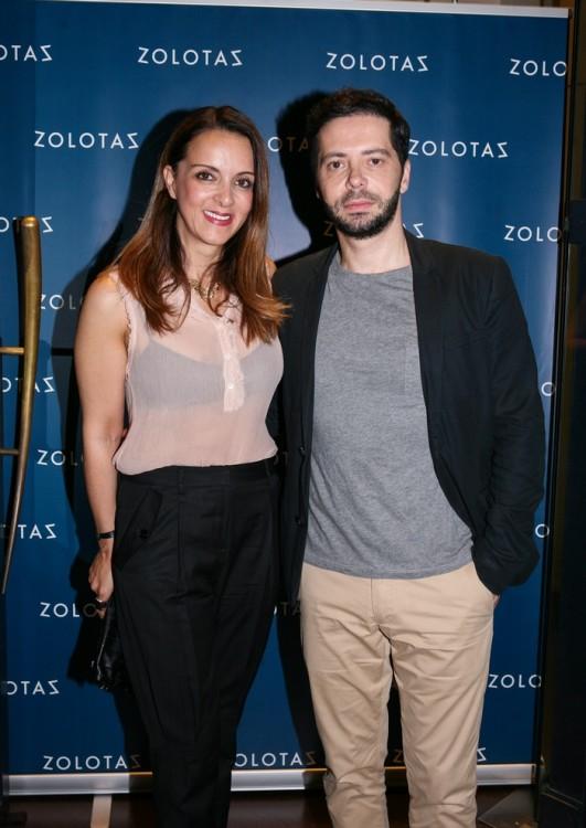 Η Έλενα Σύρακα με το σύζυγό της Χρύσανθο Πανά.