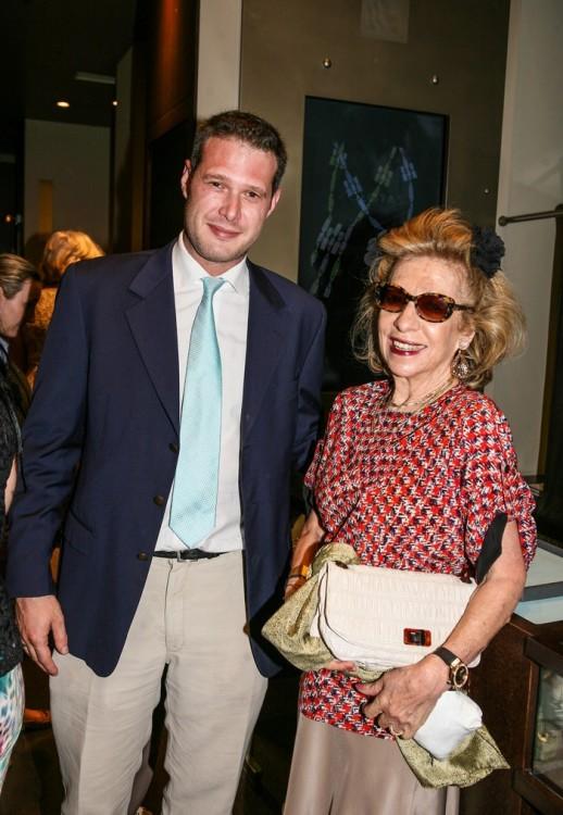 Ο CEO του οίκου ZOLOTAS Γιώργος Παπαλέξης με την Μαρία Χριστίνα Μπιλιμάτση Αγγελοπούλου.