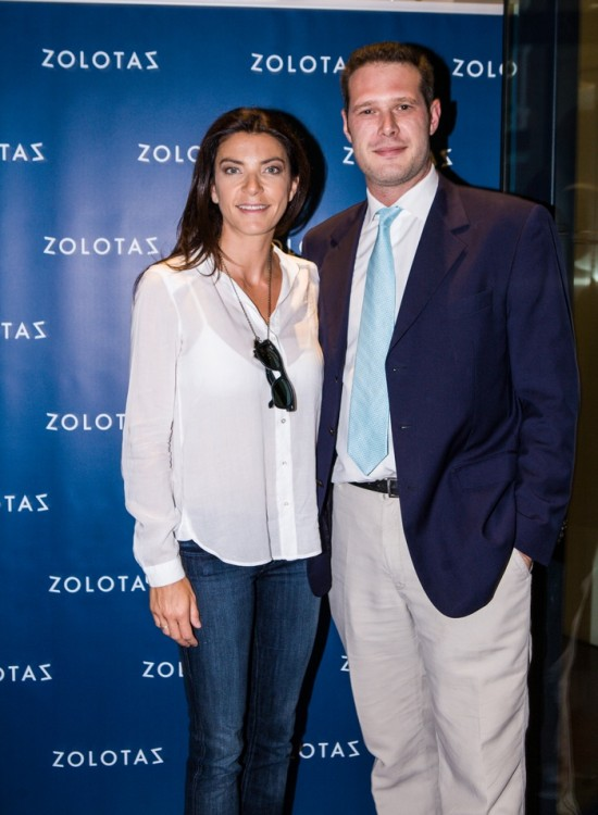 Η Μαρίνα Βερνίκου με τον CEO του οίκου ZOLOTAS Γιώργο Παπαλέξη.