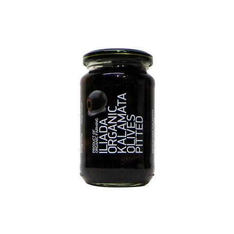 ILIADA ORGANIC GREEK BLACK KALAMATA PITTED OLIVES, 13 OZ