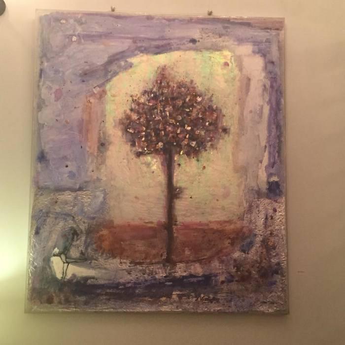 """Το αγαπημένο μου! Όταν το είδα ενθουσιάστηκα, βυθίστηκα στην αισιοδοξία που μου χάρισε απλόχερα το συγκεκριμένο """"Δέντρο"""" για αρκετή ώρα, ούτε που κατάλαβα πόση...Το έργο πουλήθηκε την επόμενη κιόλας μέρα..."""