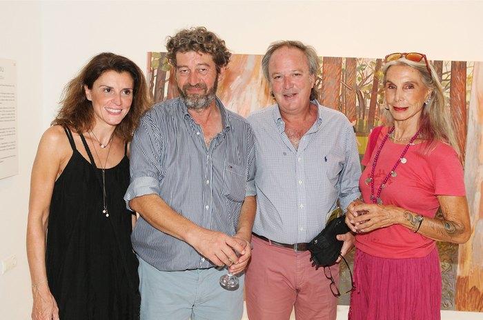 Κατερίνα Τσεβά, ο ζωγράφος Κώστας Παπανικολάου, Πάρις Τσεβάς και Κατερίνα Τερζοπούλου