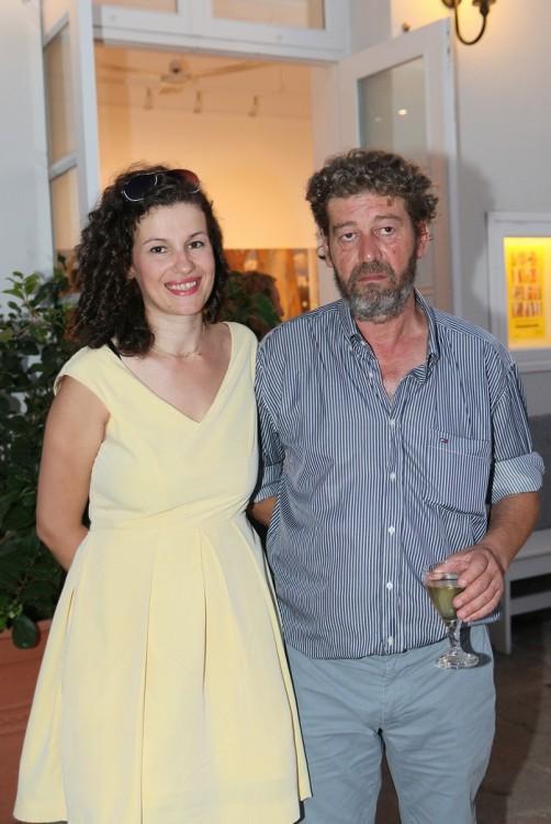 Ο ζωγράφος Κώστας Παπανικολάου με τη σύζυγο του Λουΐζα Μίσσιου - Παπανικολάου