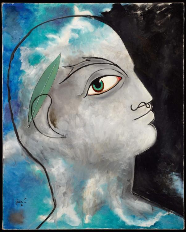 Κοκτώ_Δαφνοστεφανωμένος Ορφέας, 1951_80 × 65 εκ