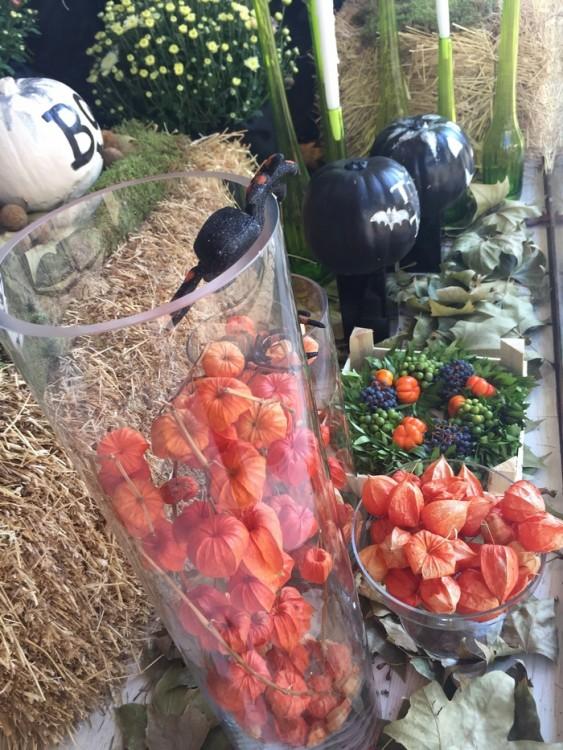 Bubbles! Αυτοσχεδιάστε με το απόλυτο φθινοπωρινό λουλούδι. Στα χρώματα του Halloween. Φοριέται και με πλαστικές αράχνες!