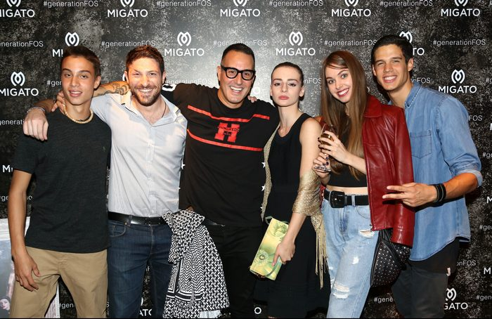 Πέτρος Γάτος και Τάσος Σοφρωνίου με τους πρωταγωνιστές της Καμπάνιας #generationFOS