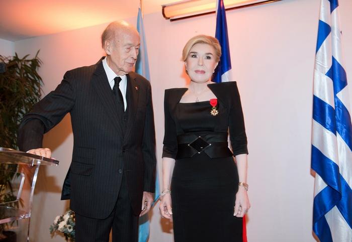 Μαριάννα Β. Βαρδινογιάννη, Valery Giscard d' Estaing