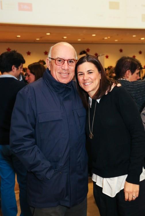 Ο Ανδρέας Κατσάμπας με την κόρη του Φαίδρα, η οποία συμμετείχε στο The Pop Up Project με τις χειροποίητες δερμάτινες τσάντες The Park House