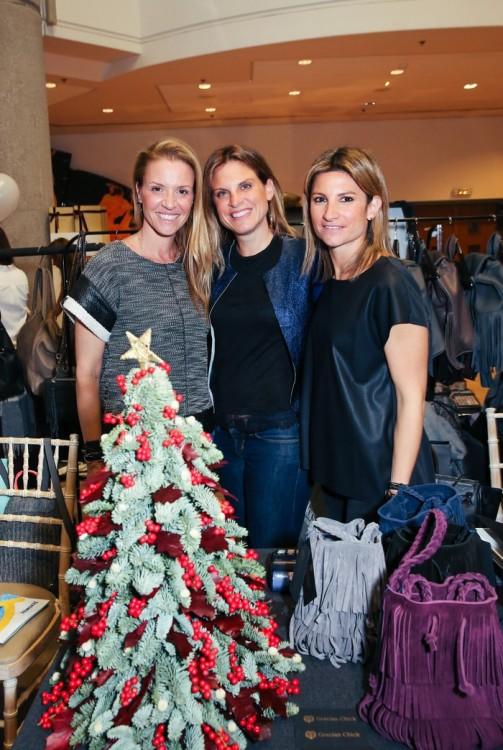 Η Κατερίνα Ζουγανέλη, η Μάρθα Γασπαράνου και η Άννα Τάσου, στο corner της Grecian Chick!