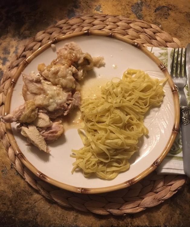 Κοτόπουλο Ρολό με Raclette και Τρούφα στη Γάστρα, με Tagliolini con Tartufi...