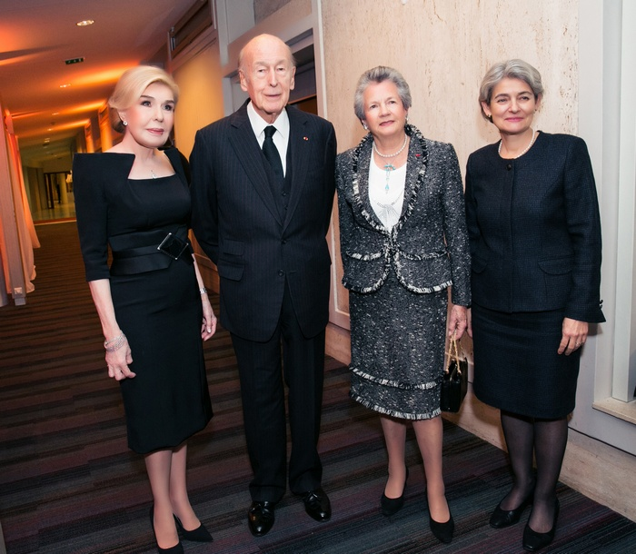 Μαριάννα Β. Βαρδινογιάννη, Valery Giscard d' Estaing, Anne Aymone d' Estaing, Irina Bokova