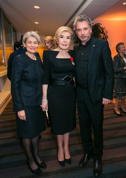 Irina Bokova, Μαριάννα Β. Βαρδινογιάννη, Jean Michel Jarre