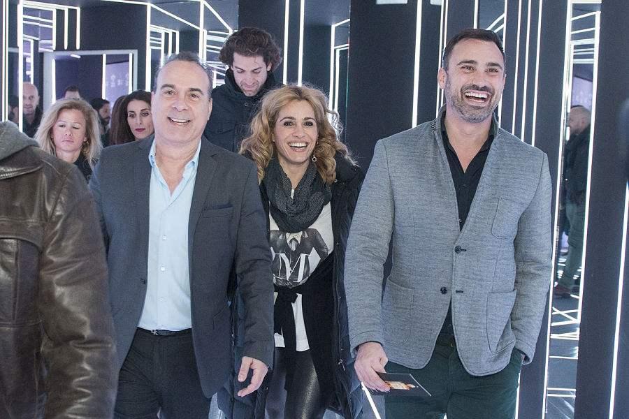Φώτης Σεργουλόπουλος, η Τζένη Μπότση και ο Γιώργος Καπουτζίδης.