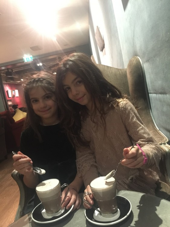 Hot chocolate for Arian & Elmina...