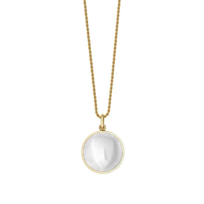 Κόσμημα για το λαιμό από λευκό μάρμαρο και χρυσό 18K Σχεδιασμός : Venyx // Eugenie Niarchos | € 2.900,00