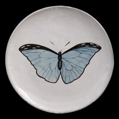 Blue Butterfly Dinner plate