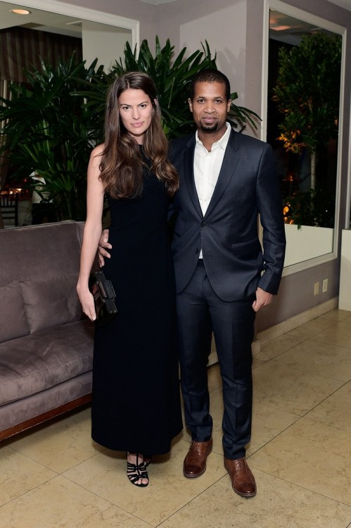 WEST HOLLYWOOD, CA - FEBRUARY 26: CameronRussell and guest attend an intimate dinner celebrating ChopardÕs Journey to Sustainable Luxury hosted by Colin & Livia Firth and Caroline Scheufele on February 26, 2016 in West Hollywood, California. (Photo by Stefanie Keenan/Getty Images for Chopard) *** Local Caption *** Cameron Russell