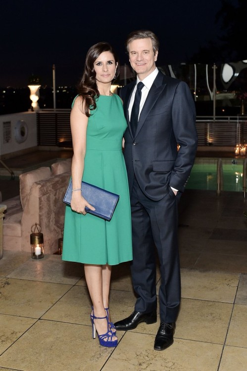 WEST HOLLYWOOD, CA - FEBRUARY 26: Livia Firth and Colin Firth attend an intimate dinner celebrating ChopardÕs Journey to Sustainable Luxury hosted by Colin & Livia Firth and Caroline Scheufele on February 26, 2016 in West Hollywood, California. (Photo by Stefanie Keenan/Getty Images for Chopard) *** Local Caption *** Livia Firth;Colin Firth