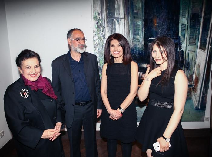Η διευθύντρια της Εθνικής Πινακοθήκης κ.Μαρίνα Λαμπράκη Πλάκα με τον Χρήστο Παλλαντζά, την Νάσια και την Ειρήνη Ευριπίδου.